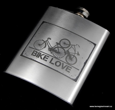 Nerezové placatky | Nerezová placatka Bike Love | FOTO - DAREK